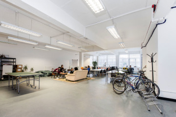 Open space office and play area on Markian House, 52-56 Pritchards Road, Hackney, let by Anton Page