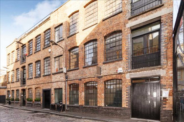 Commercial property bricks facade on 15 Cotton Gardens, Shoreditch, London, let by Anton Page