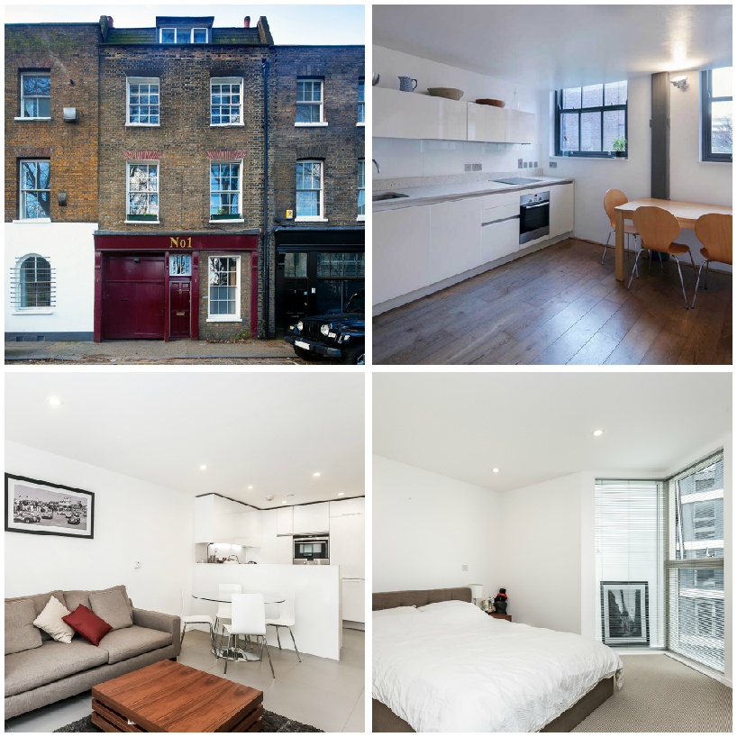 Photo collage of Residential Lettings in Hemet Row, Dance Square, Clerkenwell, let by Anton Page