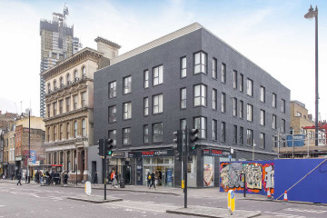 Commercial property exterior on 176-179 Shoreditch High Street, London let by Anton Page