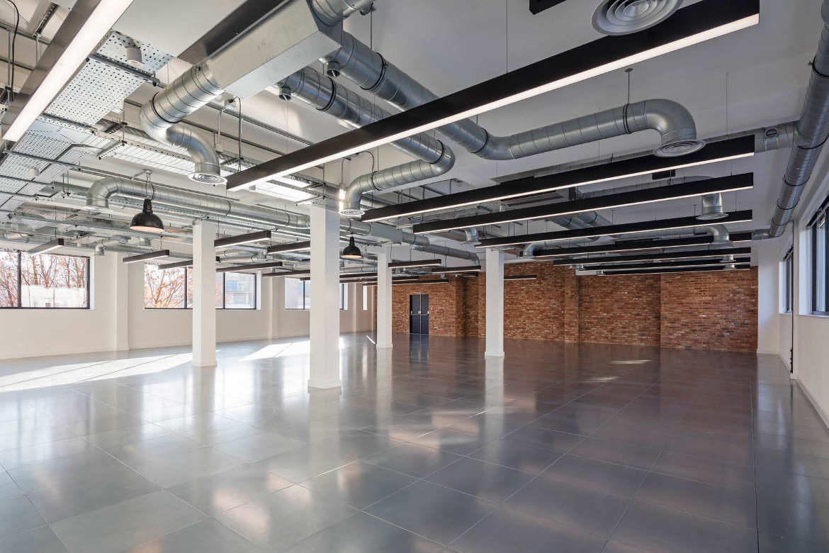 Large industrial-style office on Twenty Baltic, Baltic Street West, Clerkenwell, let by Anton Page