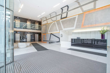 Commercial property entrance on 26 Finsbury Square, London let by Anton Page