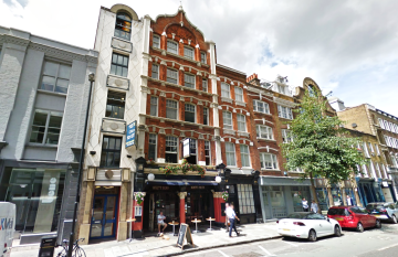 Commercial property exterior on 55 St. John Street, Clerkenwell, let by Anton Page