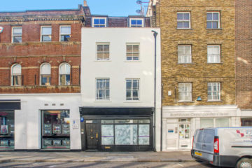 External Facade of a commercial property on 86 Long Lane, London let by Anton Page
