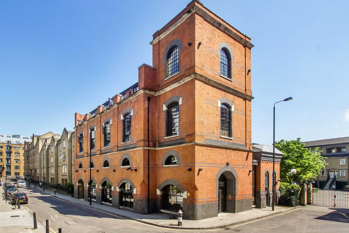 Exterior view of The Pump House, a commercial property on 19 Hooper Street, Aldgate let by Anton Page