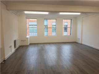 Bright office with wooden flooring on 68 Great Eastern Street, London let by Anton Page