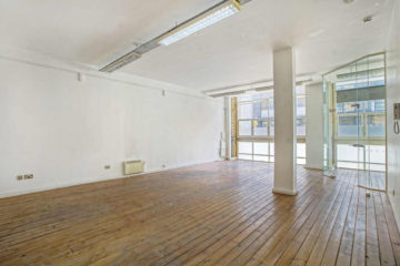 Bright office with wooden floor on Zeus House, Shoreditch let by Anton Page