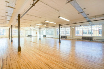 Large office with wooden flooring on Exmouth House 3-11 Pine Street, Clerkenwell let by Anton Page