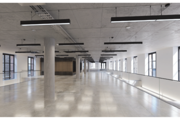 2nd floor Bright open plan office of a commercial property on 1 Phipp Street, Shoreditch let by Anton Page